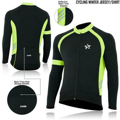 Cycling Long Sleeve Jersey Thermal Super Roubaix Bike Jacket Winter Top JACKET • 19.99£