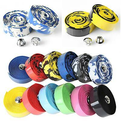 Handlebar Tape Cycling Road Bikes Cycling Rubber Foam Handle Bar Grip Wrap Tape • 6.09£
