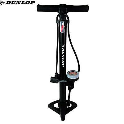 Dunlop Stirrup Bike Floor Pump Garage Tyre Inflatables Presta Schrader  • 14.98£