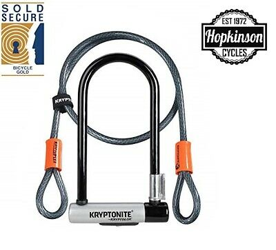 Kryptonite KryptoLok Kryptoflex  U-Lock D Lock With Cable SOLD SECURE GOLD • 31.49£