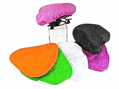 Waterproof Bike Seat Cover Bicycle Saddle Plastic Rain Cover - VARIOUS COLOURS • 2.75£