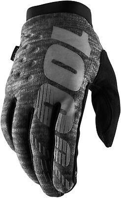 100% Brisker Cold Weather Cycling Gloves - Grey • 28.98£