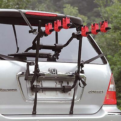 3 Bicycle Bike Car Cycle Carrier Rack Universal Fitting Saloon Hatchback Estate • 44.95£