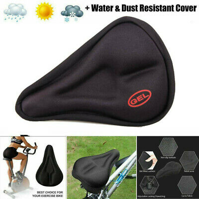 3D GEL Silicone Cycling Bike Bicycle Comfort Saddle Seat Pad Soft Cushion Cover • 3.96£