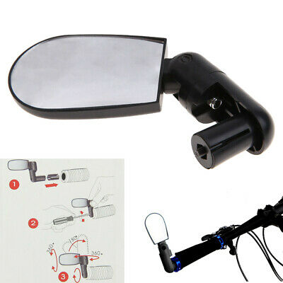 Universal Rotate Road Bicycle Cycling Bike Rearview Mirror Handlebar Wide Angle • 3.49£
