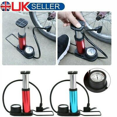 Cycle Mountain Bike Bicycle Foot Floor Pump With Gauge Fits Schrader & Presta UK • 8.99£