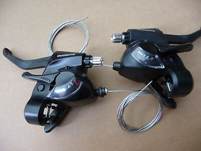 Shimano 6 Speed Rapid EZ Fire 18 Gears Shifters Brake Lever Pod Combo ST-EF41 • 30.99£