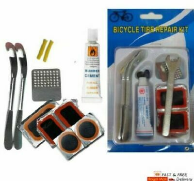 Bicycle Cycle Tyre Repair Kit Inner Bike Tube Puncture Patch Lever Spanner Glue • 2.99£