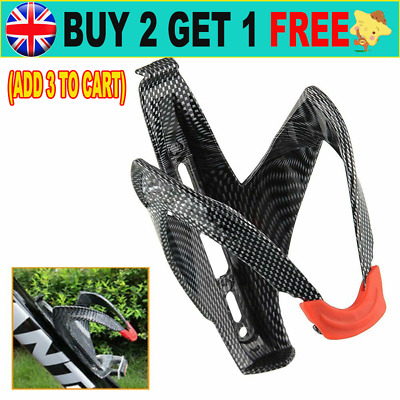 Holder Carbon Fiber Cycling Bicycle Bottle Bike Water Cage Rack Drink Holding CW • 4.79£