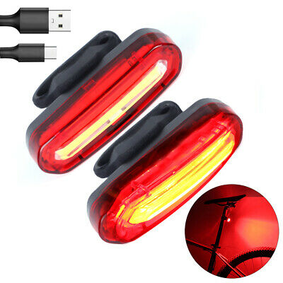 4 Modes Bike Bicycle Cycling USB Rechargeable LED Light Rear Tail Lamp • 5.99£