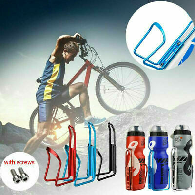 650ML Mountain Bike Bicycle Cycling Water Drink Bottle And Holder Cage Kit UK • 7.99£