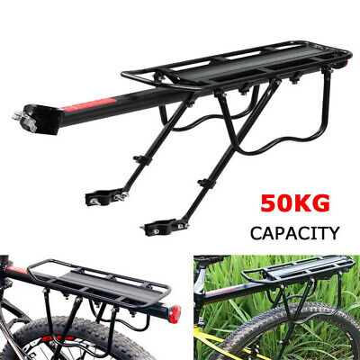 Cycling Bike Bicycle Rear Rack Carrier MTB Pannier Luggage Carrier Rack Black • 15.97£