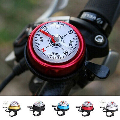 Creative Bike Road Bicycle Cycling Handlebar Bell Ring Horn With The Compass • 3.99£