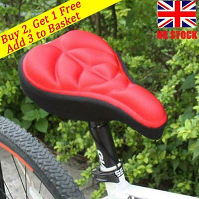 Travel Cycling Bike Silicone Saddle Seat Cover Gel Cushion Soft Comfortable Pad • 4.99£