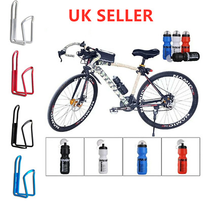 680ML Mountain Bike Bicycle Cycling Water Drink Bottle And Holder Cages Popular • 6.24£