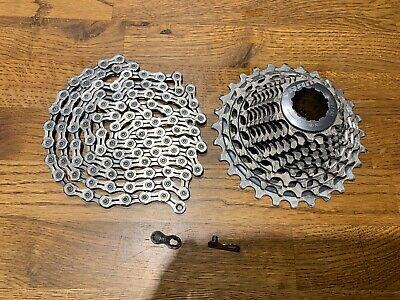 Sram Red XG 1190 11-28t 11 Speed Cassette & KMC X11EL Chain With Quick Link • 0.99£
