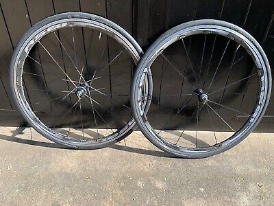 Shimano WH-RS81 C35 Carbon Laminate Wheelset Tyres 700c 10/11 Speed No Reserve • 55£