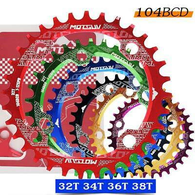 BCD 104mm MTB Narrow Wide Chainring 32/34/36/38T Cycle Bike Bicycle Chainwheel • 11.52£