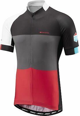 Madison Sportive Half ZIp Short Sleeve Mens Cycling Jersey - Red • 27.99£