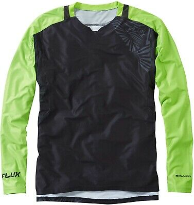 Madison Flux Enduro Long Sleeve Mens Cycling Jersey - Black • 22.99£