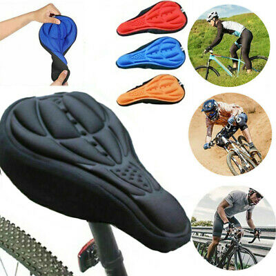 Bike Bicycle Silicone 3D Gel Saddle Seat Cover Pad Padded Soft Cushion Comfort • 4.29£