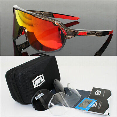 100% S2 Trap Sports Glasses Polarized Cycling Glasses Speedcraft 3 Pieces • 25.99£