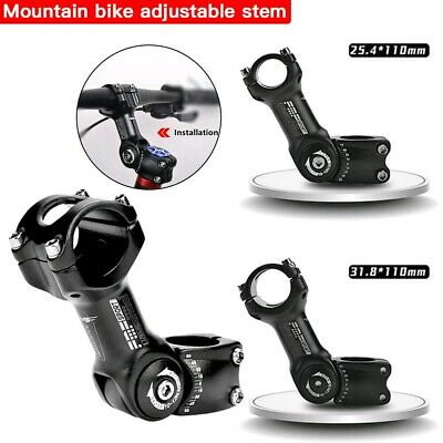 110mm Mountain Road Bike Handlebar Riser Adjustable Angle Bicycle Stem Extender • 12.99£