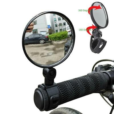 2 X Rotate Bicycle Cycling Bike Back RearView Handlebar Reflector Mirror • 4.86£
