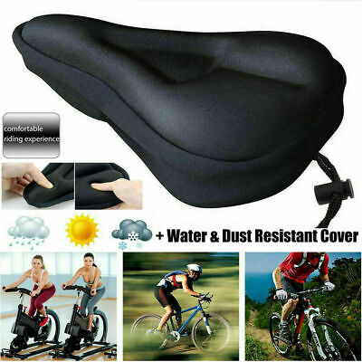 Bike Bicycle Silicone 3D Gel Saddle Seat Cover Pad Padded Soft Cushion Comfort • 3.69£