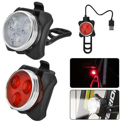 Bicycle Lights Waterproof Bike Head Tail Light Set Super Bright USB Rechargeable • 7.39£