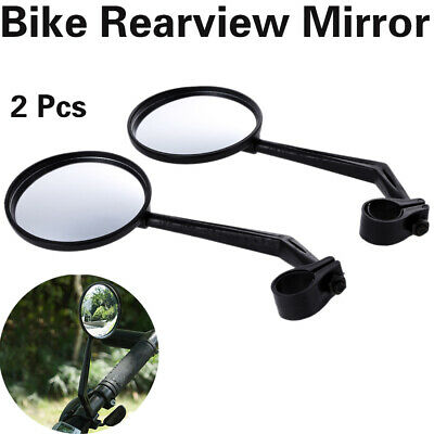 2X Wide Rear View Rearview Convex Mirror Cycling Bike Bicycle Handlebar Fittings • 4.87£