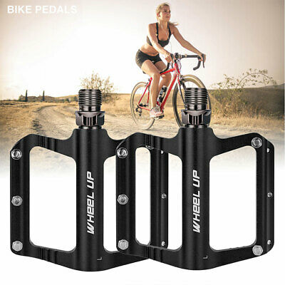 Bike Pedals Mountain Road Bicycle Flat Platform MTB Cycling Aluminum Alloy 9/16  • 13.79£