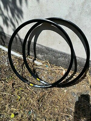 "Pair Nos 26"" Mavic Xm819 Disc Double Wall Mtn Mountain Bike Rims • 90£"