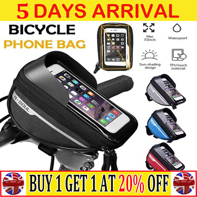 MTB Bicycle Motor Bike Waterproof Phone Case Mount Holder For All Mobile PhoneCW • 6.99£