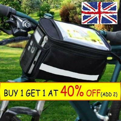 Cycling Handle Bar Bag Quick Release Front Basket Bike Bicycle Bag R3 • 6.39£
