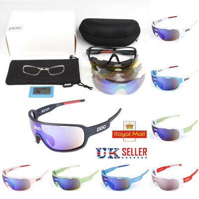 POC Cycling Biker Glasses Sunglasses UV400 Polarized Glasses W/ 5pc Replace Lens • 13.98£