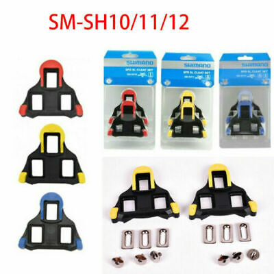 Shimano SM-SH10/11/12 Fixed Cleats Set 0/2/6° Float SPD-SL For Bike Pedals Hot • 9.99£