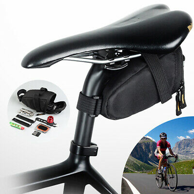 Bicycle Storage Saddle Bag Mountain Bike Seat Cycling Rear Pouch Bags UK SELLER • 6.58£