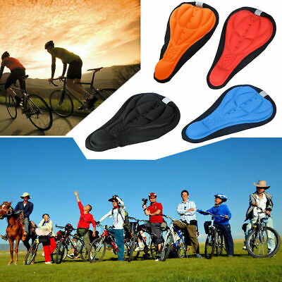Comfortable Silicone Saddle Cover Gel Cushion Bike Seat Pad Sports Cycling UK • 1.99£