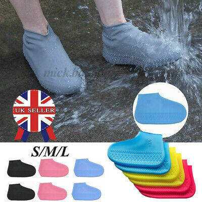 Rain Shoe Covers Silicone Overshoes Anti-Slip Boot Cover Protector Waterproof • 4.87£
