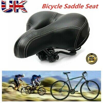 Extra Wide Comfy Cushioned Bike Seat Soft Padded Bicycle Gel Universal Saddle UK • 6.29£