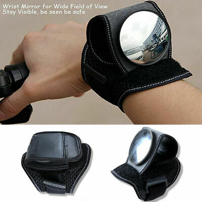 Hand Rearview Cycling Wrist Mirror Rear View Safety For Bike Arm Back Mirror UK • 10.11£