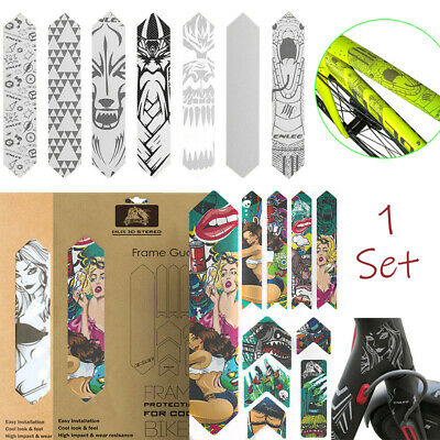 MTB Frame Fork Protection Stickers Mountain Bike 3D Structure Protector Covers • 10.79£