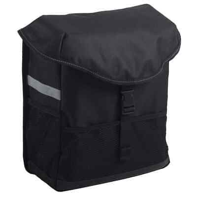 7-series Bicycle Pannier 15L Black Single Cycle Travel Sport Tote Shopping Bag • 35.54£