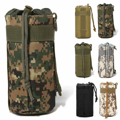 Outdoor Tactical Military Molle System Water Bottle Bag Kettle Pouch Belt Holder • 3.79£