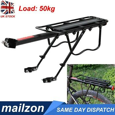 Alloy Bicycle Rear Rack Bike Carrier Bracket Pannier Luggage Bag Holder Seat UK • 11.98£