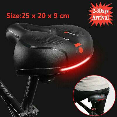 Wide Extra Comfy Bike Bicycle Gel Cruiser Comfort Sporty Soft Pad Saddle Seat Uk • 9.99£