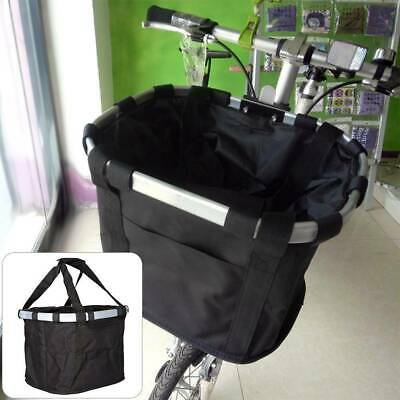 Foldable Bicycle Front Basket Bike Handlebar Basket Pet Carrier Frame Lunch Bag • 7.99£