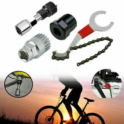 4Pcs Crank Chain Extractor Removal Repair Tool Kit Set For Bicycle Mountain Bike • 6.39£