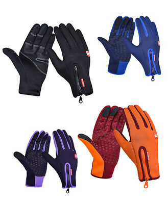 Waterproof Touch Screen Winter Thermal Full Finger Gloves Cycling Sports Gloves • 6.59£